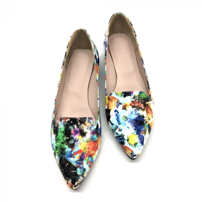 Loafers dama din piele naturala Painted Merry 1