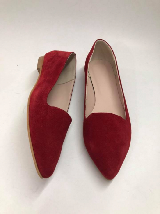Loafers dama din piele naturala Red Velvet Merry, 39 0