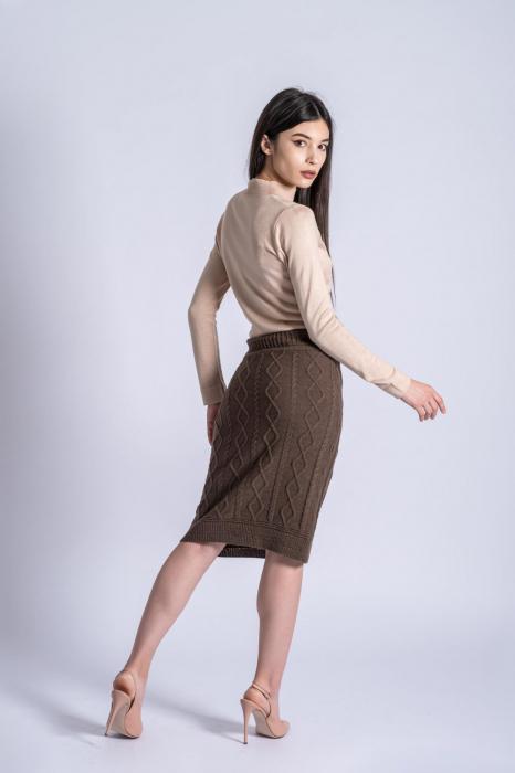 Maleta bej din tricotaj fin Ania 2