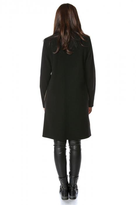 Palton bicolor din stofa de lana Elisa 2