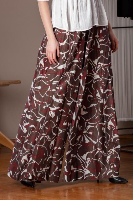 Pantaloni casual palazzo cu imprimeu geometric Miliam 3