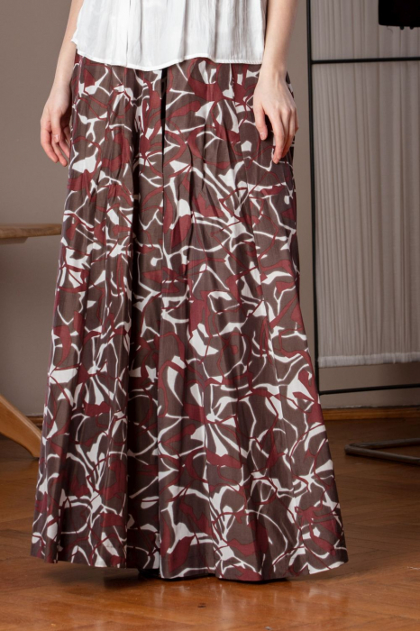 Pantaloni casual palazzo cu imprimeu geometric Miliam 1