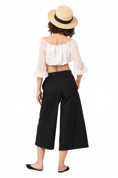 Pantaloni dama culottes din bumbac 1