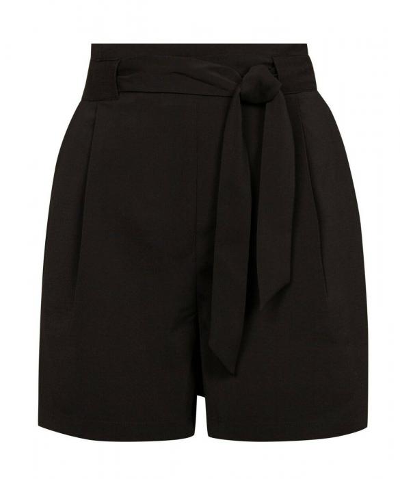 Pantaloni scurti negri cu buzunare 4
