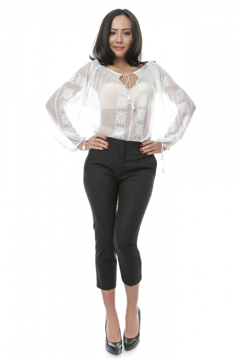 Pantaloni tip tigareta pentru femei 1