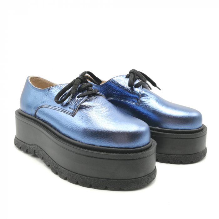 Pantofi dama cu platforma Metal Blue, 36 1