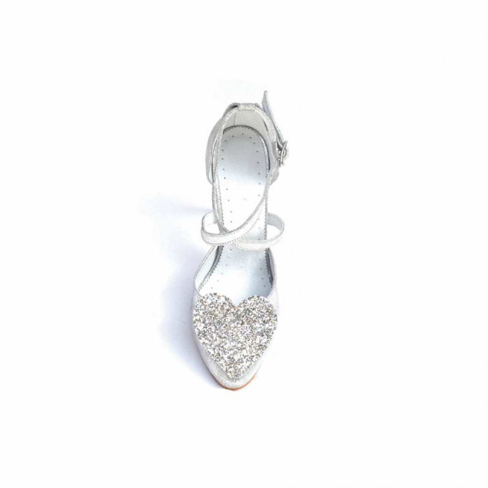 Pantofi dama cu toc Silver Heart din piele naturala 3
