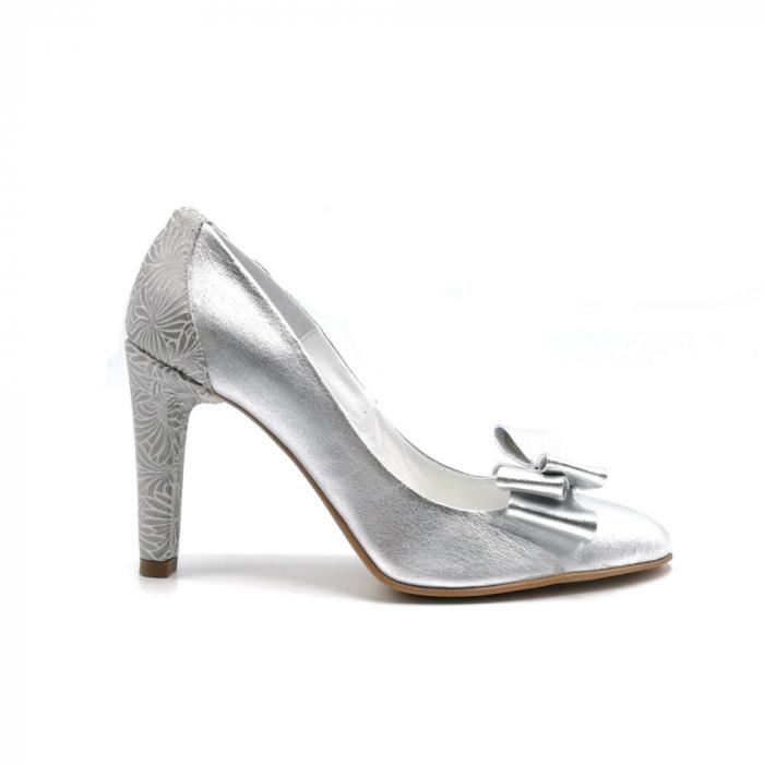 Pantofi dama stiletto Silver Bow 0