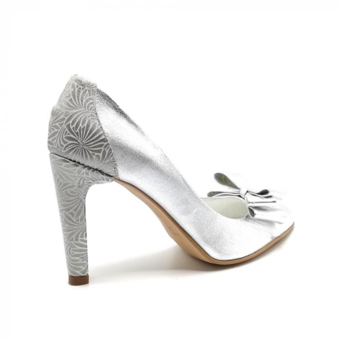 Pantofi dama stiletto Silver Bow 3