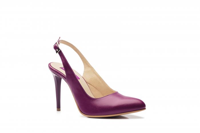 Pantofi dama stiletto din piele naturala CA11