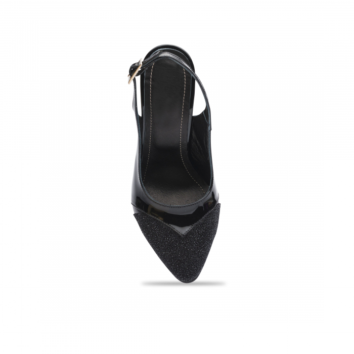 Pantofi dama stiletto din piele naturala negri CA11 4