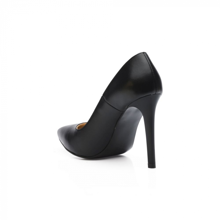 Pantofi dama stiletto din piele naturala negri CA03 3