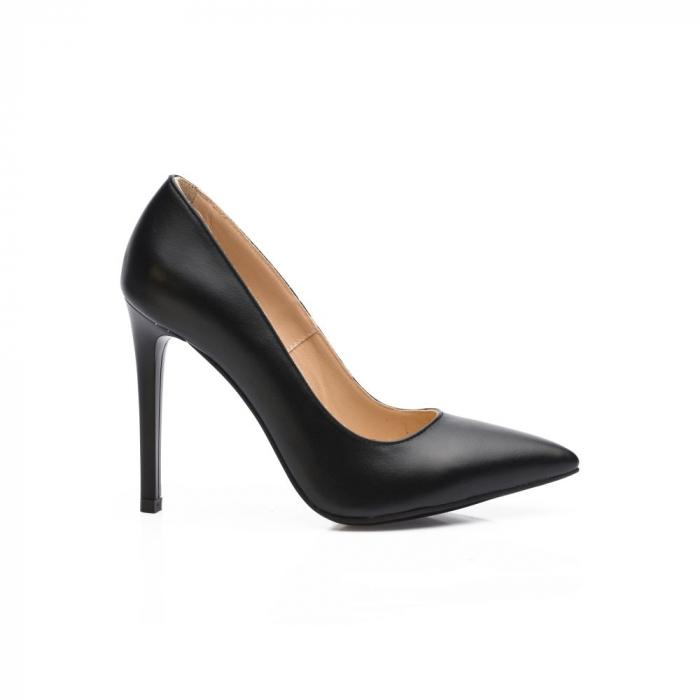 Pantofi dama stiletto din piele naturala negri CA03 0