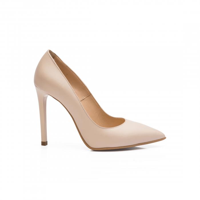 Pantofi dama stiletto din piele naturala nude CA03 0