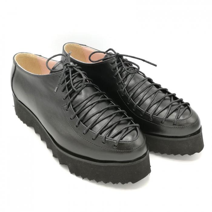 Pantofi dama tip Oxford Black Laces