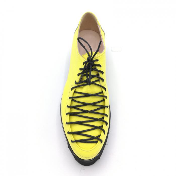 Pantofi dama tip Oxford Yellow Laces