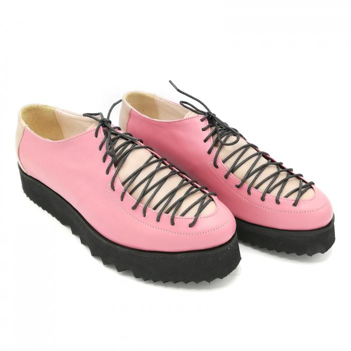 Pantofi dama tip Oxford Pink Laces 1