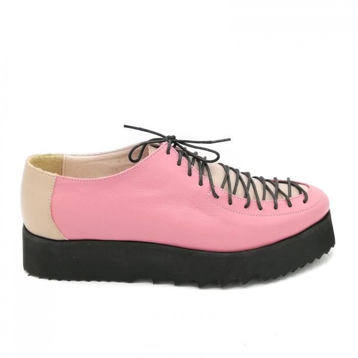Pantofi dama tip Oxford Pink Laces 0