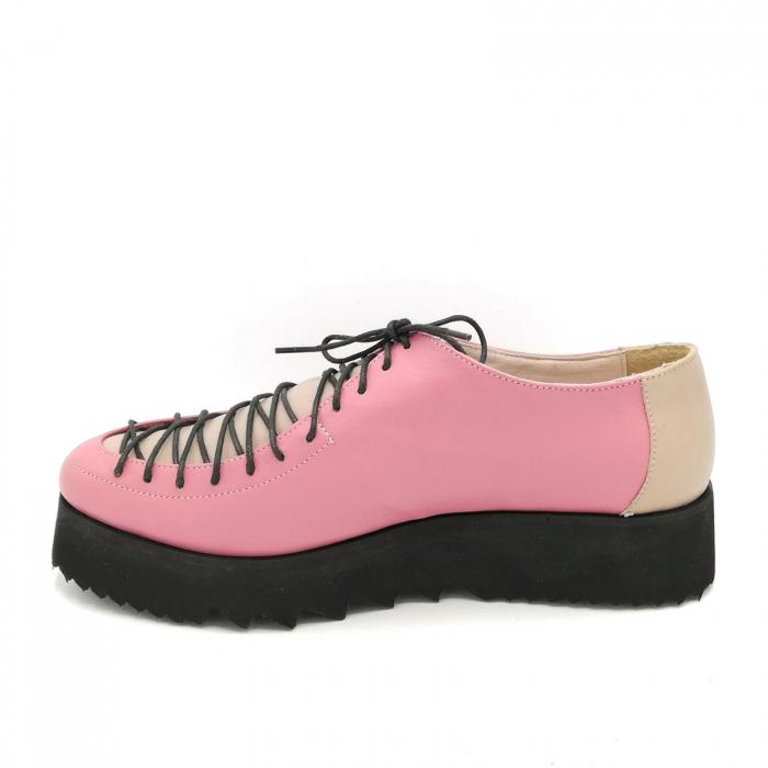 Pantofi dama tip Oxford Pink Laces 4