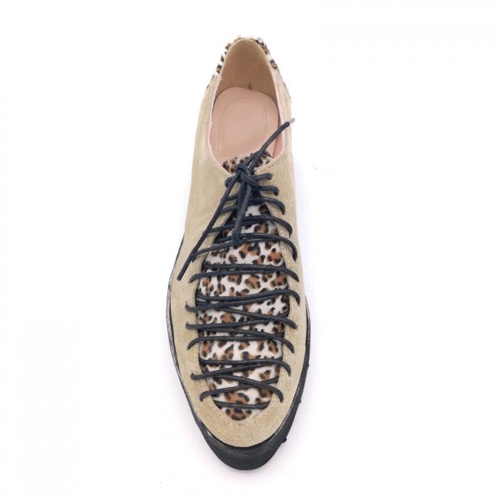 Pantofi dama tip Oxford Pony Beige Laces 4