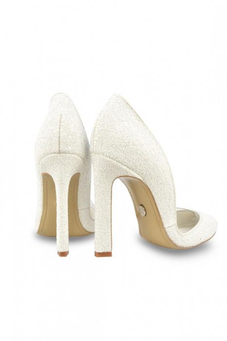 Pantofi de mireasa Mihai Albu White Glitter Pumps 2 2
