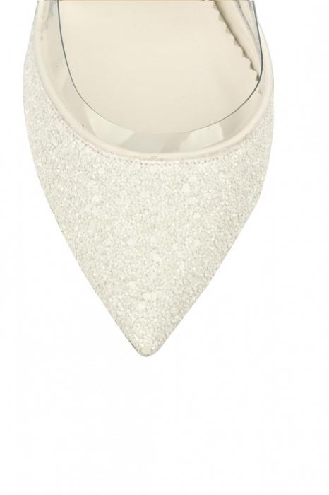 Pantofi de mireasa Mihai Albu White Glitter Pumps 2 3