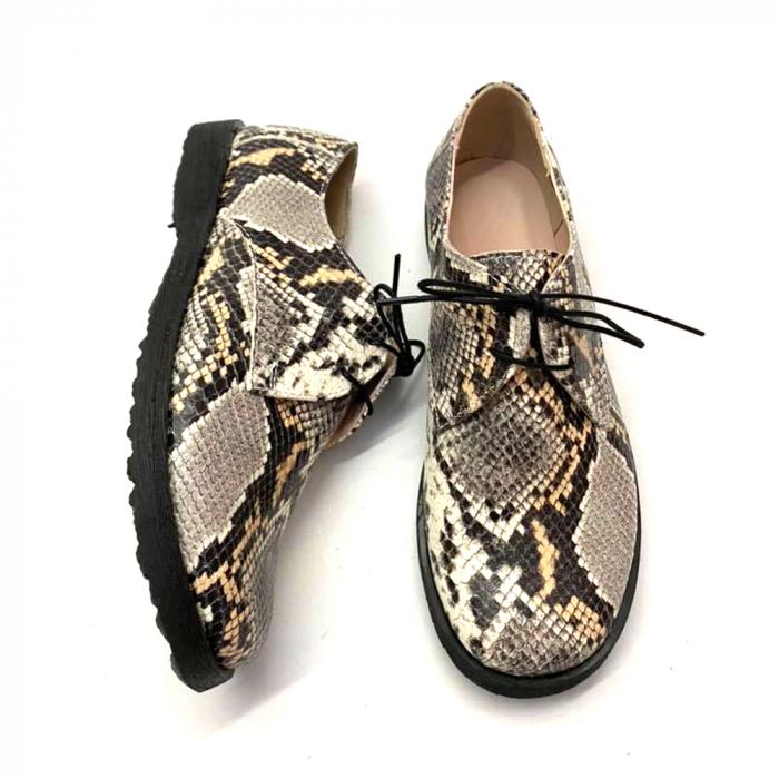 Pantofi din piele naturala Oxford Pax Snake, 37 1