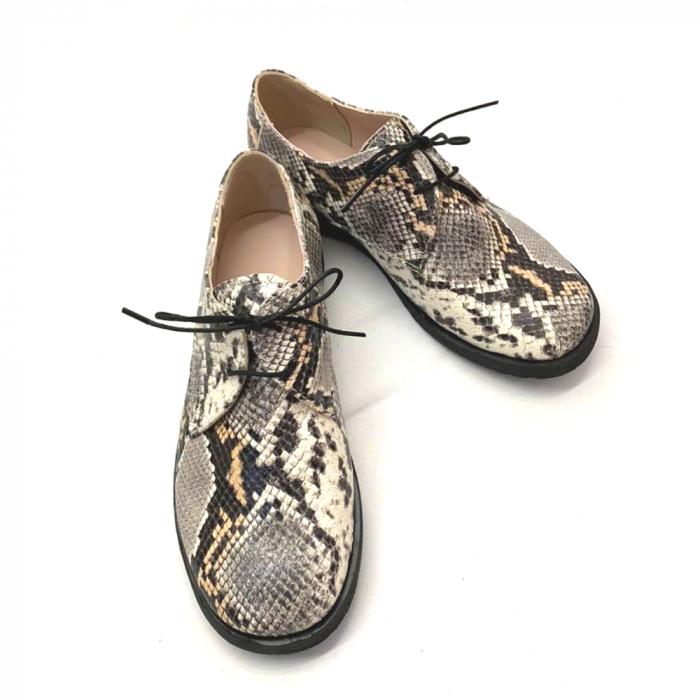 Pantofi din piele naturala Oxford Pax Snake, 37 4