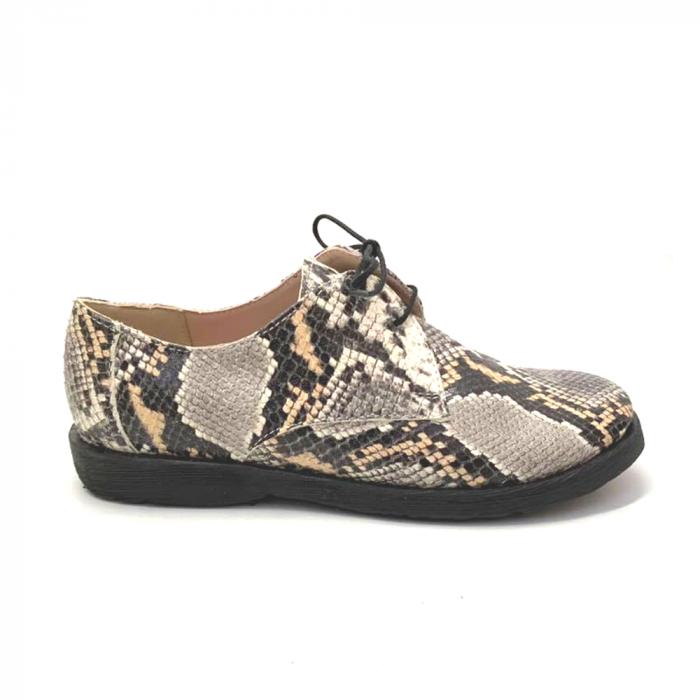 Pantofi din piele naturala Oxford Pax Snake, 37 0