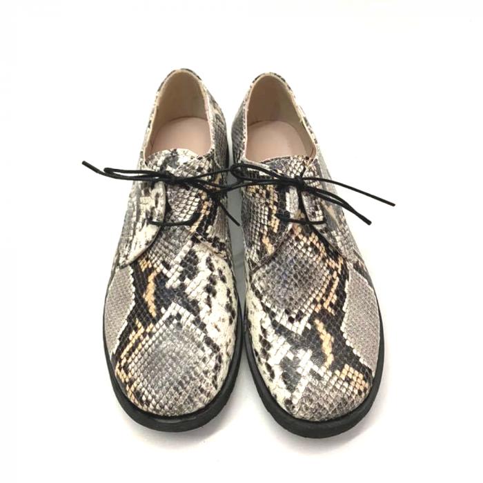 Pantofi din piele naturala Oxford Pax Snake, 37 3