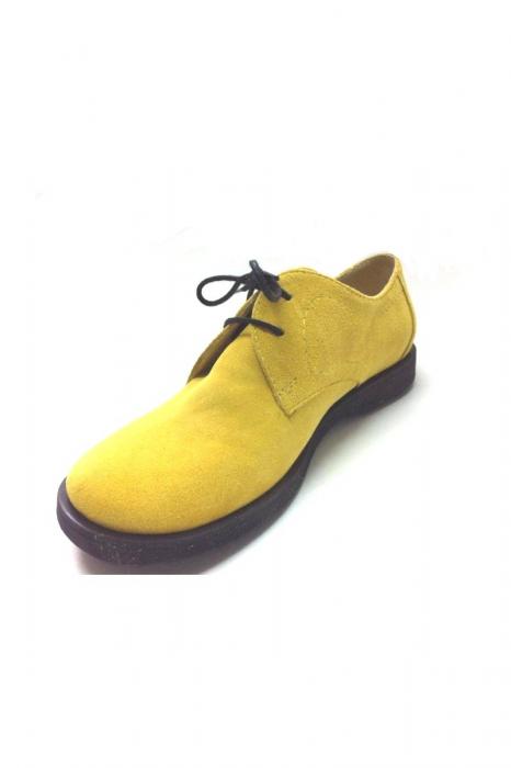 Pantofi din piele intoarsa Pax galbeni 2