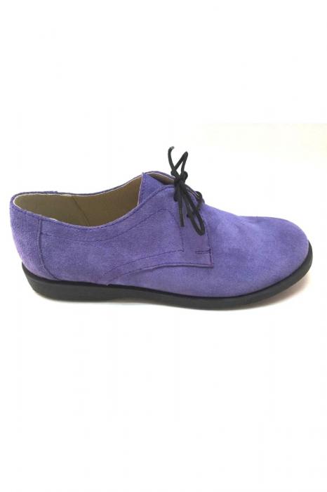 Pantofi din piele intoarsa Pax Lila 0