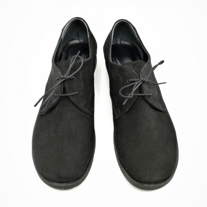 Pantofi din piele intoarsa Pax negri 2