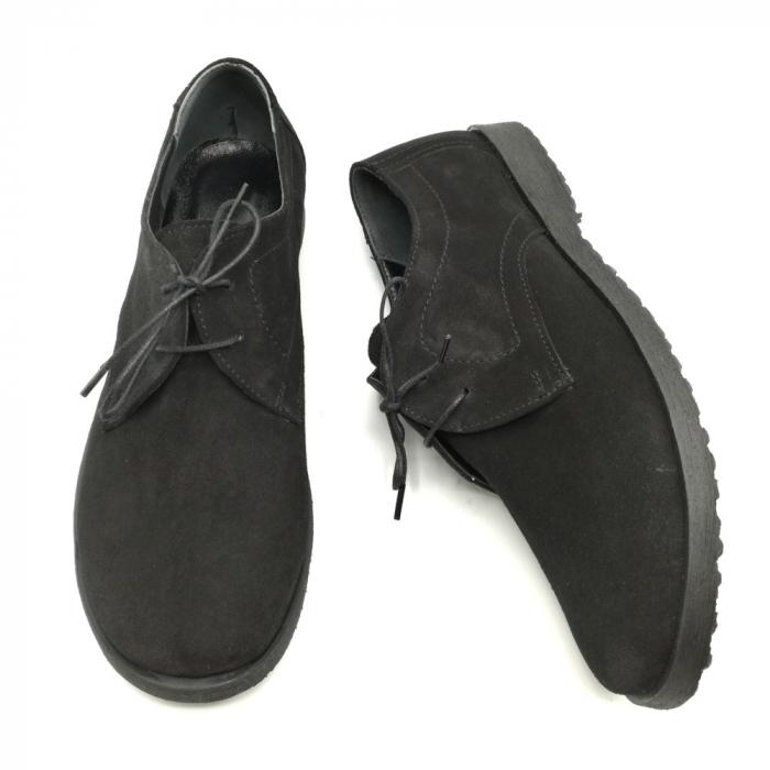 Pantofi din piele intoarsa Pax negri 3