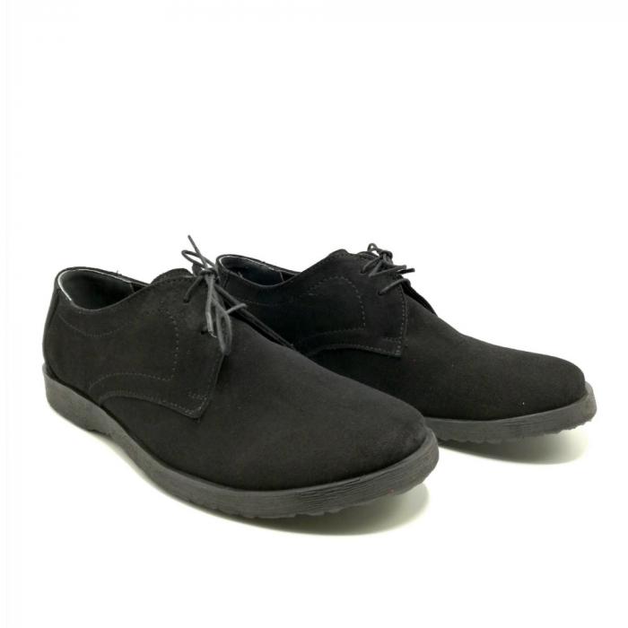 Pantofi din piele intoarsa Pax negri 1
