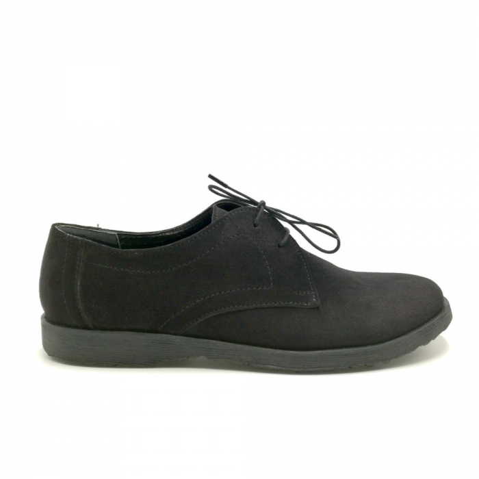 Pantofi din piele intoarsa Pax negri 0