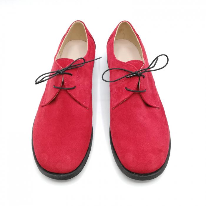 Pantofi din piele intoarsa Pax Rosu