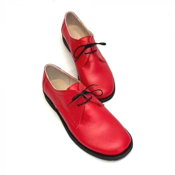 Pantofi din piele naturala Pax Rosu 1