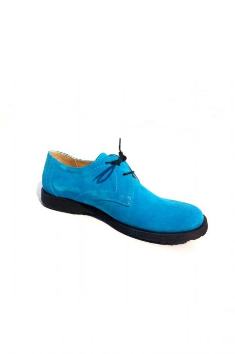 Pantofi din piele intoarsa Pax Turquoise 3