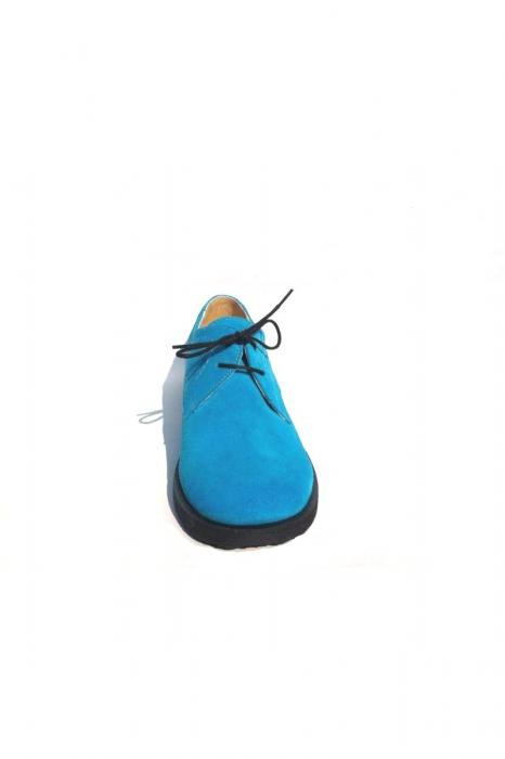 Pantofi din piele intoarsa Pax Turquoise 2