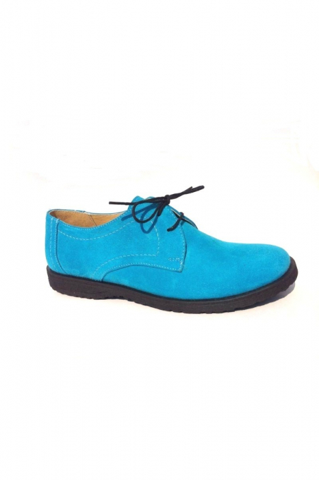 Pantofi din piele intoarsa Pax Turquoise 0