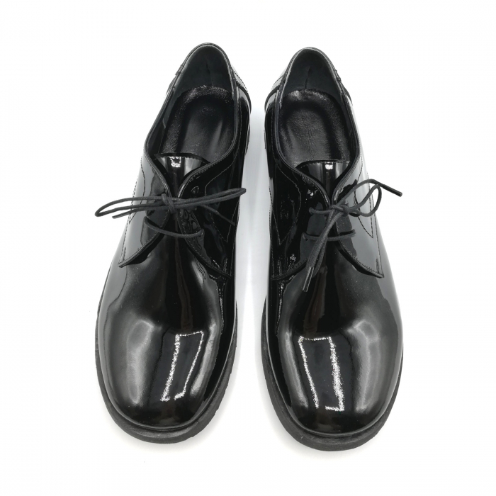 Pantofi din piele lacuita Pax negri 4