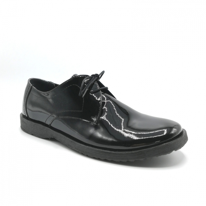 Pantofi din piele lacuita Pax negri 1