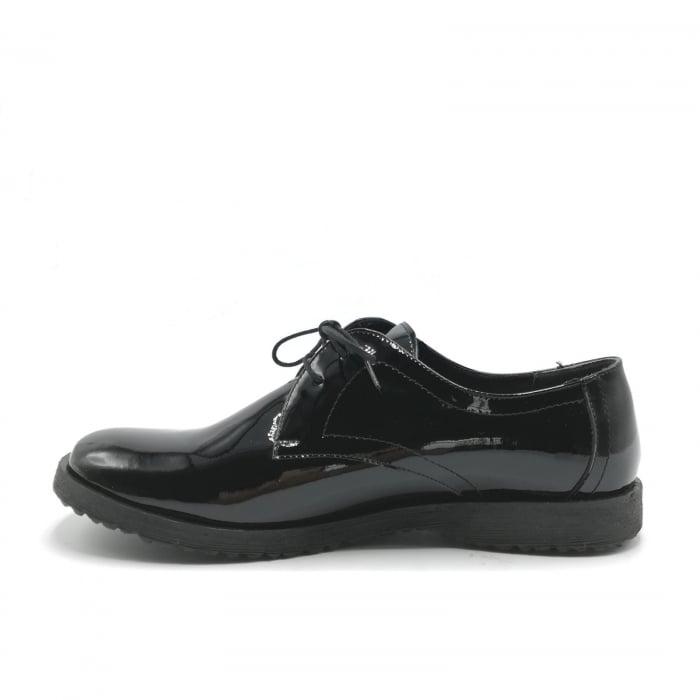 Pantofi din piele lacuita Pax negri 2