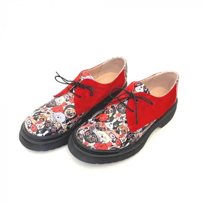 Pantofi din piele cu imprimeu multicolor Red Dogs Clara [2]