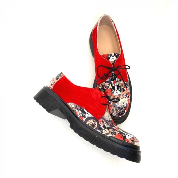Pantofi din piele cu imprimeu multicolor Red Dogs Clara [1]