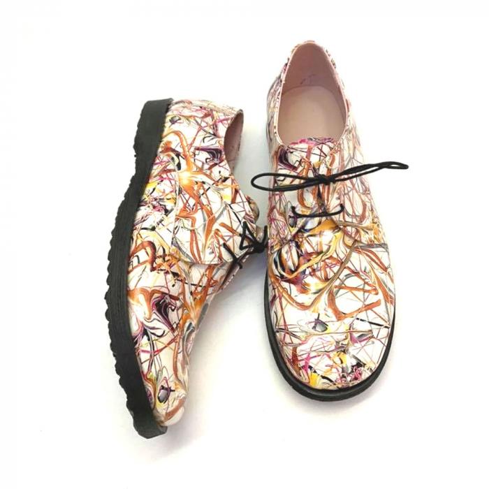 Pantofi din piele naturala Oxford Pax Multicolor, 37 1