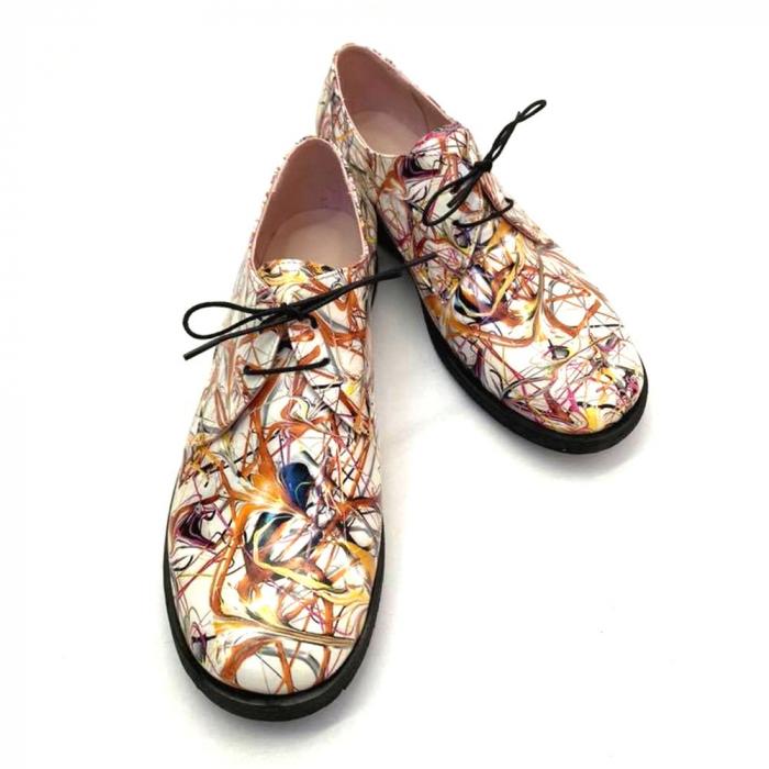 Pantofi din piele naturala Oxford Pax Multicolor 2