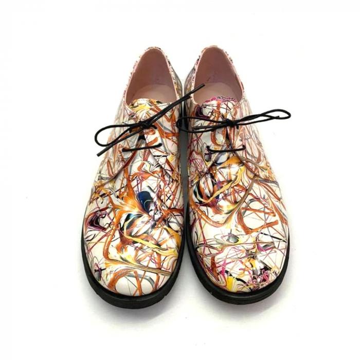Pantofi din piele naturala Oxford Pax Multicolor, 37 3