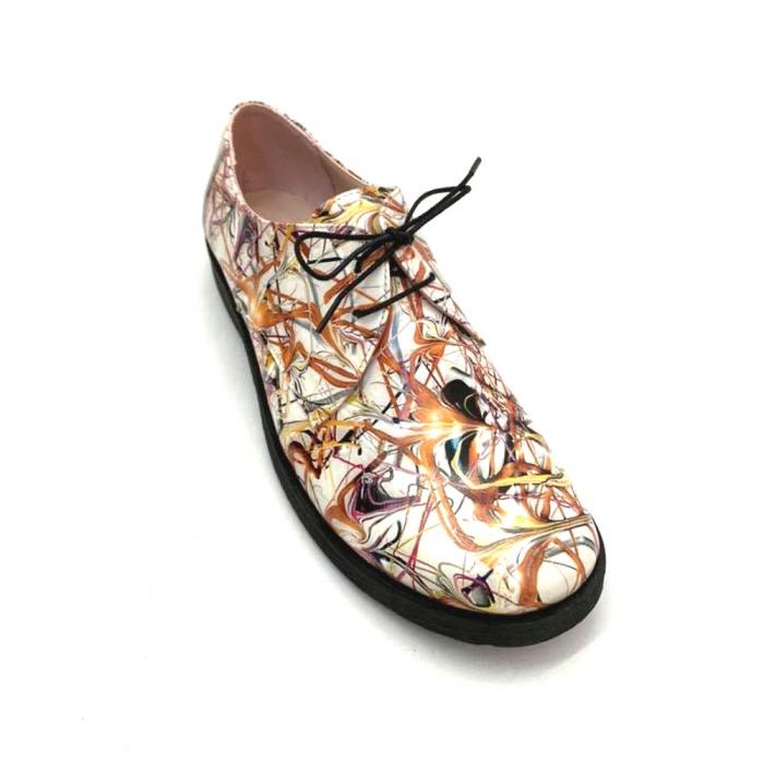 Pantofi din piele naturala Oxford Pax Multicolor, 37 0
